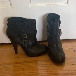 Gorgeous black leather booties
